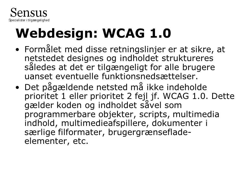 Webdesign: WCAG 1.0