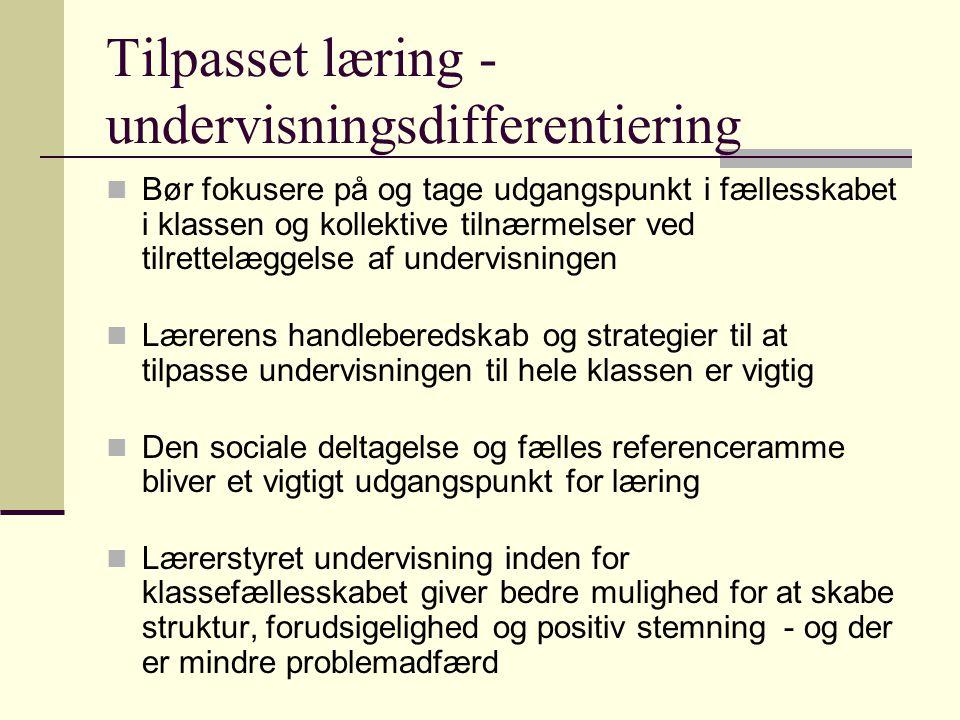Tilpasset læring -undervisningsdifferentiering