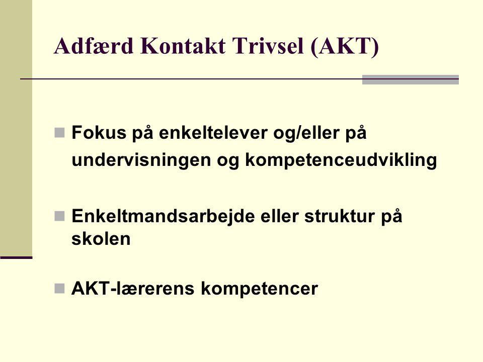 Adfærd Kontakt Trivsel (AKT)