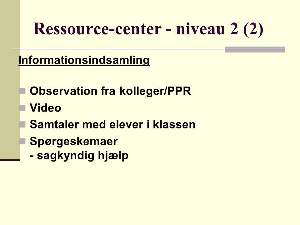 Ressource-center - niveau 2 (2)