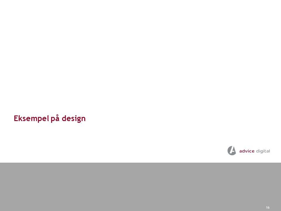 Eksempel på design