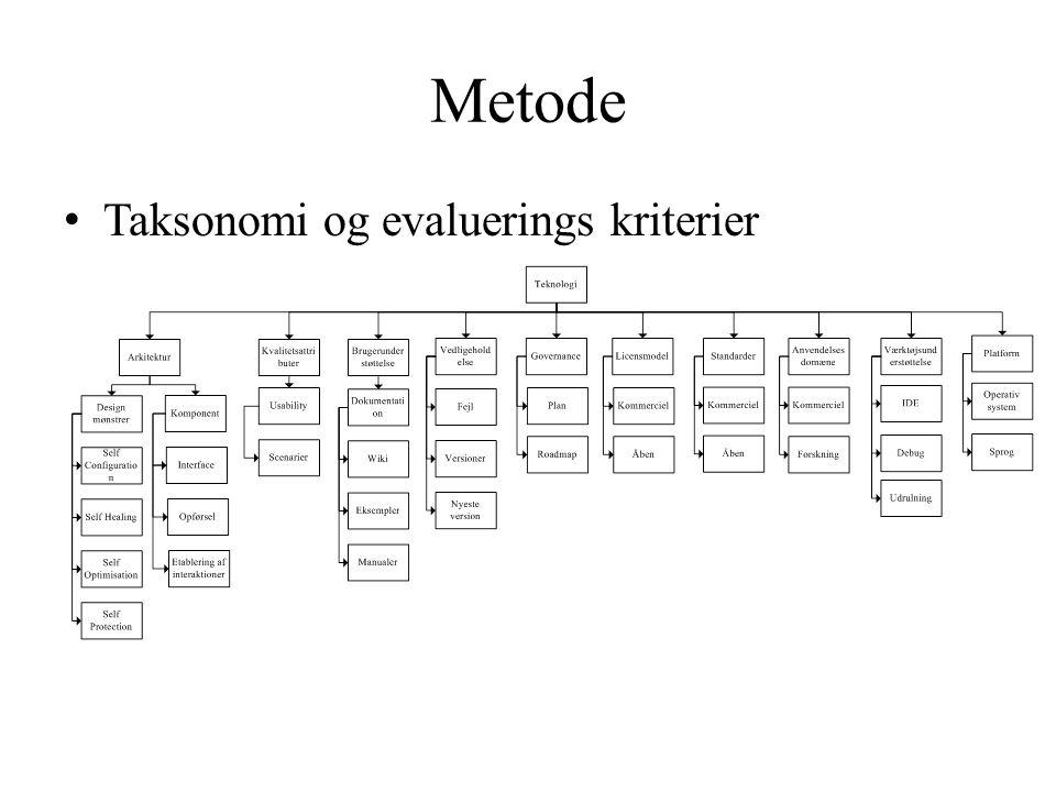 Metode Taksonomi og evaluerings kriterier