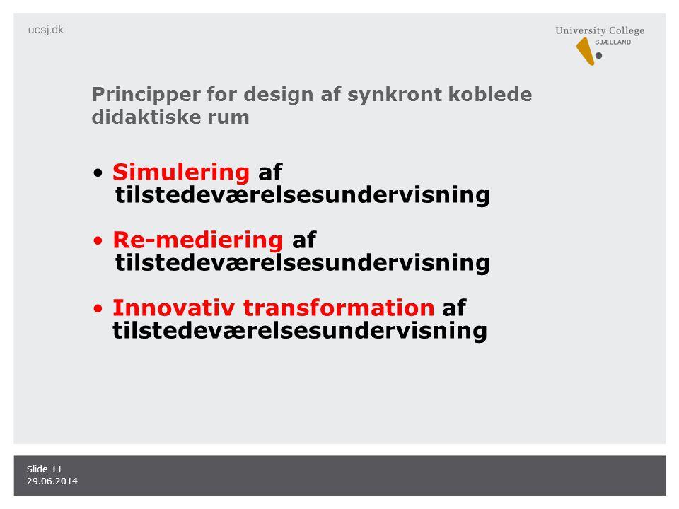 Principper for design af synkront koblede didaktiske rum