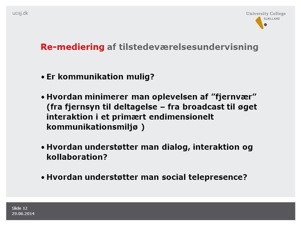 Re-mediering af tilstedeværelsesundervisning