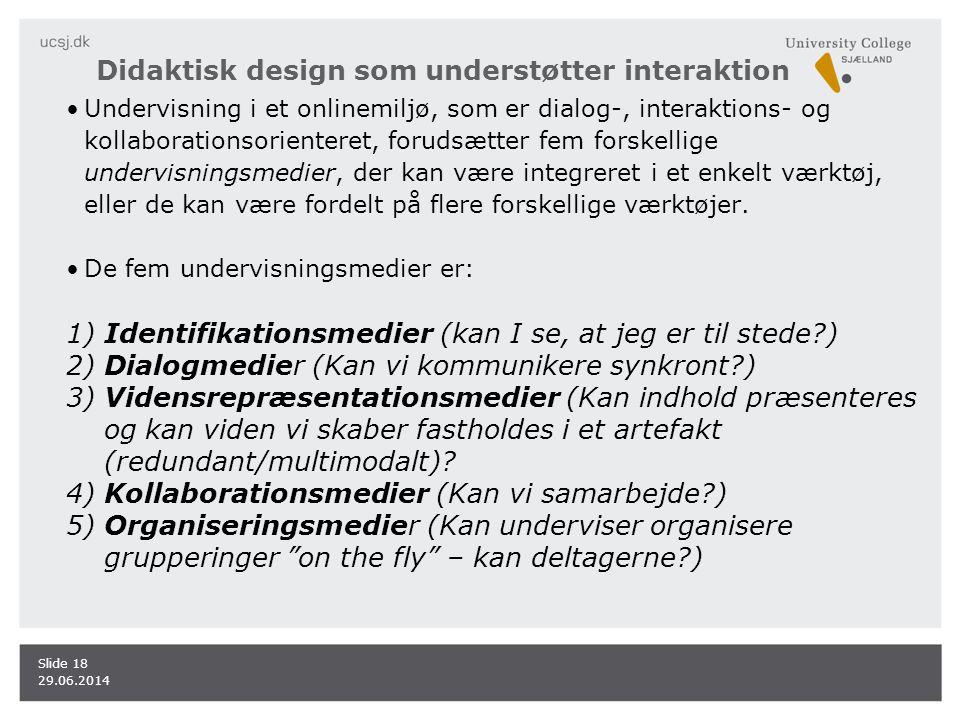 Didaktisk design som understøtter interaktion