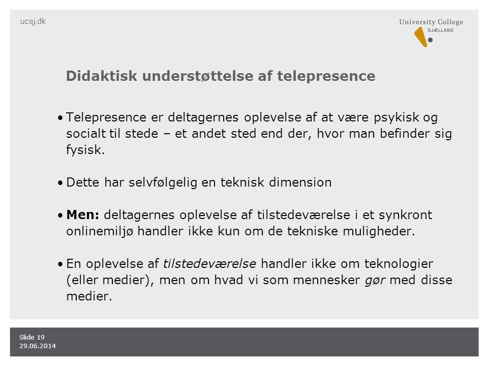Didaktisk understøttelse af telepresence