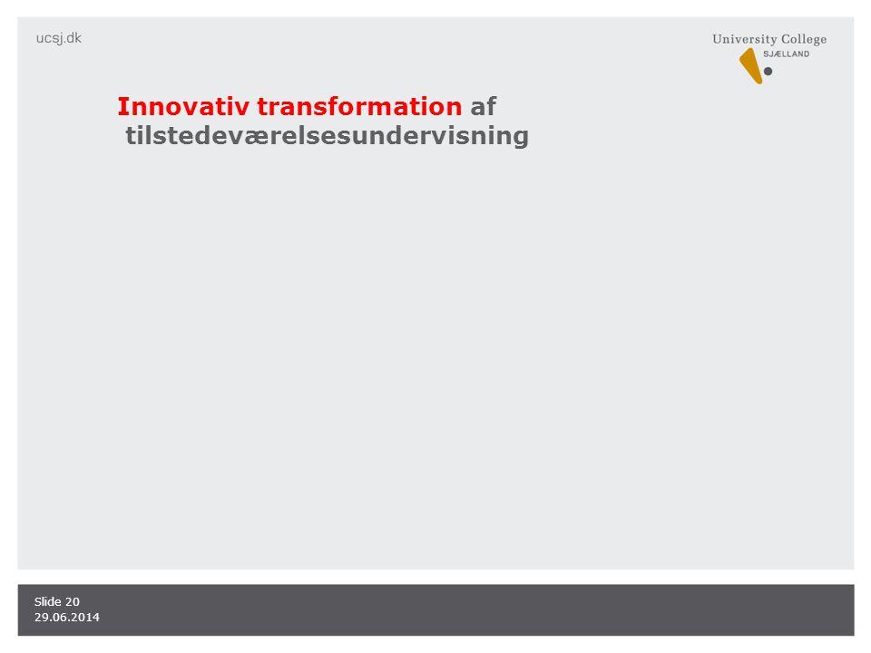 Innovativ transformation af tilstedeværelsesundervisning