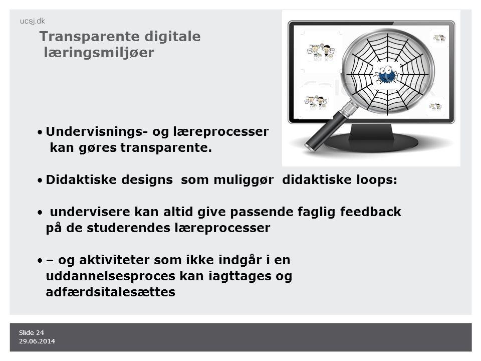 Transparente digitale læringsmiljøer