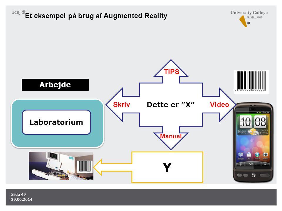 Y Et eksempel på brug af Augmented Reality Dette er X TIPS Arbejde