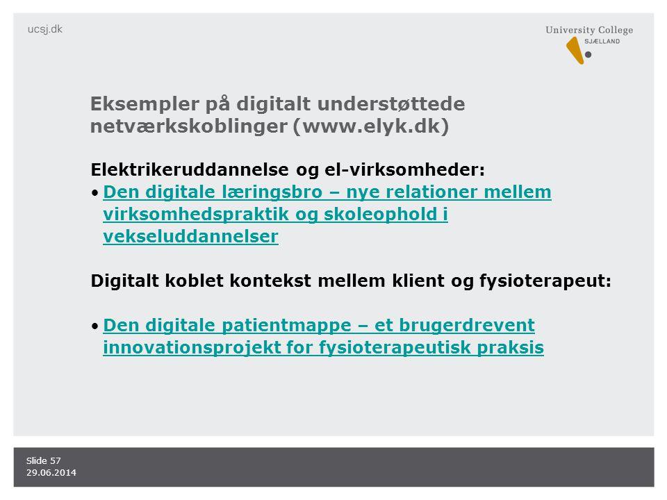 Eksempler på digitalt understøttede netværkskoblinger (www.elyk.dk)
