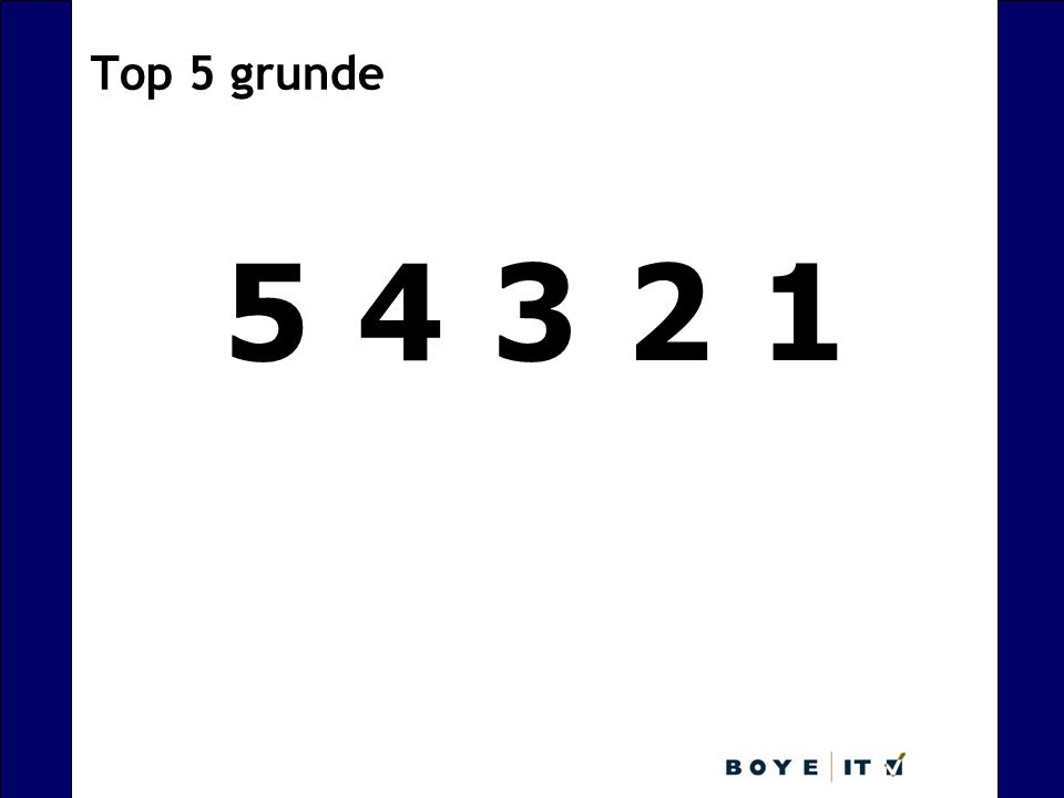 Top 5 grunde 5 4 3 2 1