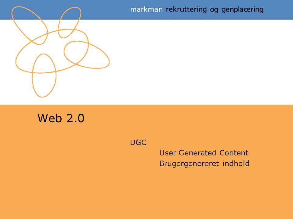 UGC User Generated Content Brugergenereret indhold
