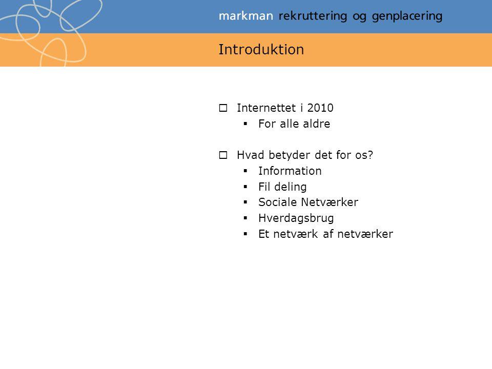 Introduktion Internettet i 2010 For alle aldre