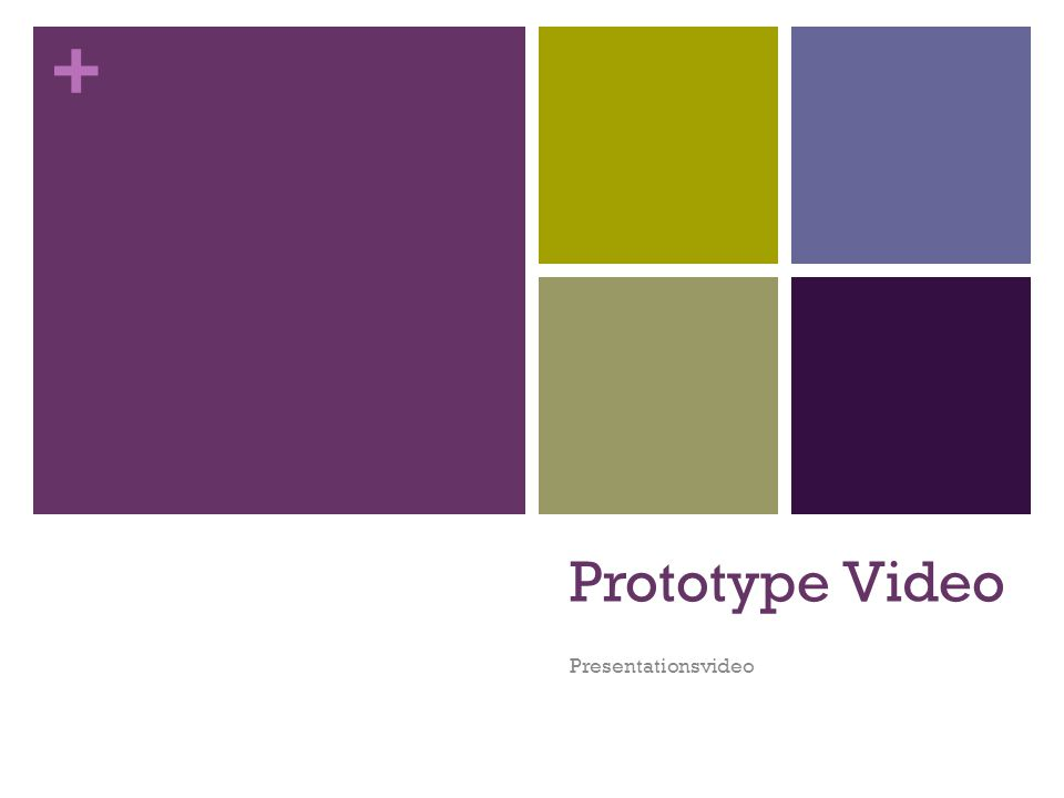 Prototype Video Presentationsvideo