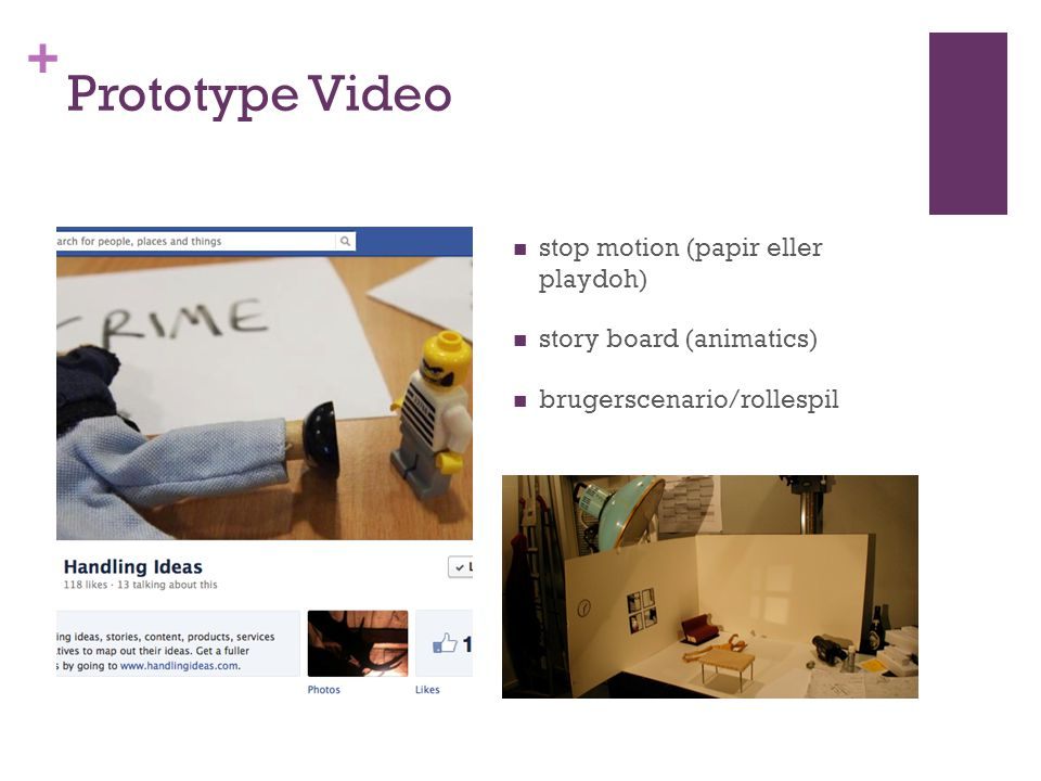 Prototype Video stop motion (papir eller playdoh)