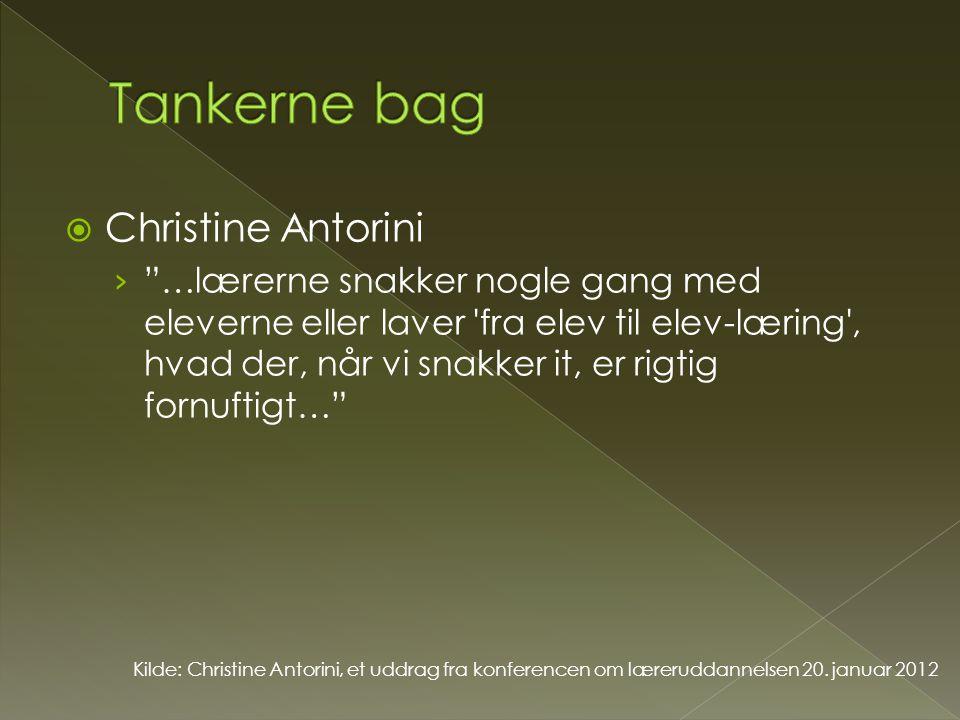 Tankerne bag Christine Antorini