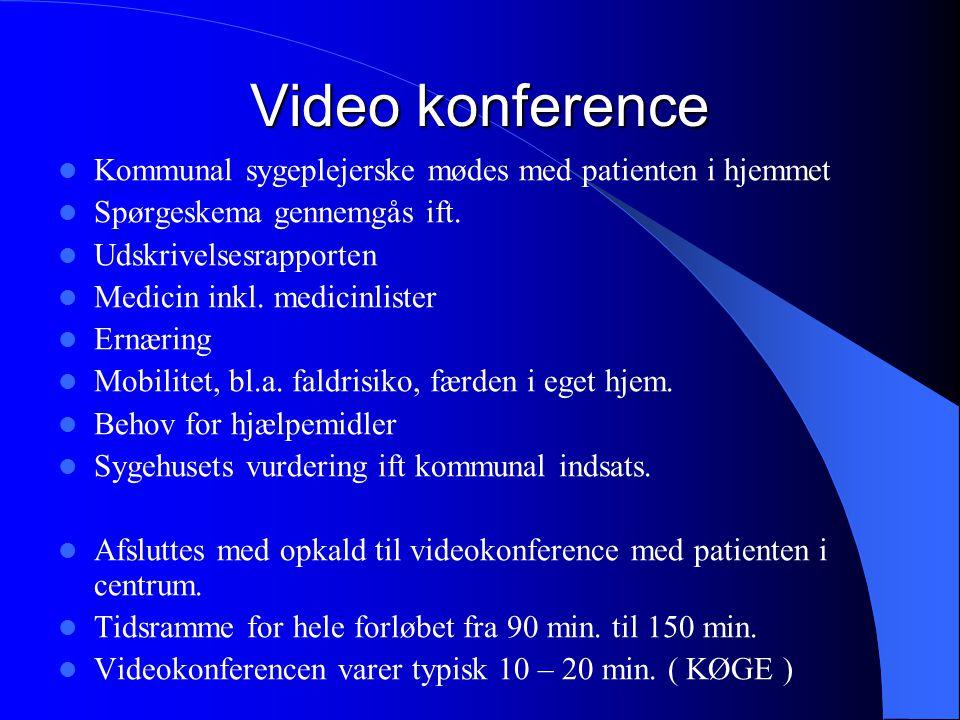 Video konference Kommunal sygeplejerske mødes med patienten i hjemmet