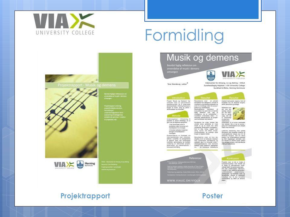 Formidling Projektrapport Poster