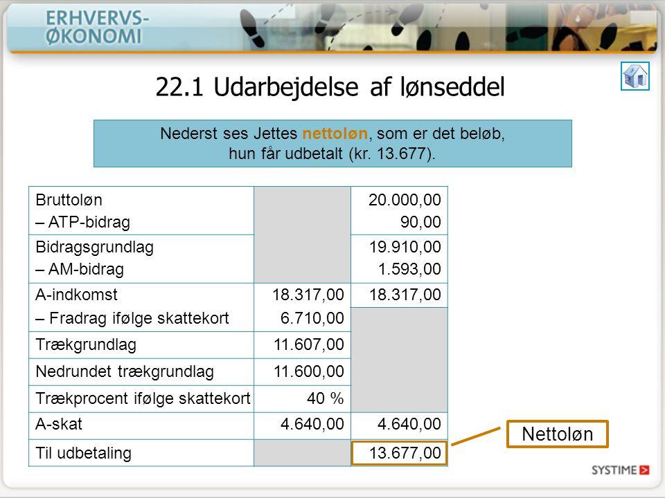 22.1 Udarbejdelse af lønseddel - ppt download