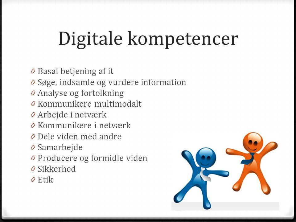 Digitale kompetencer Basal betjening af it