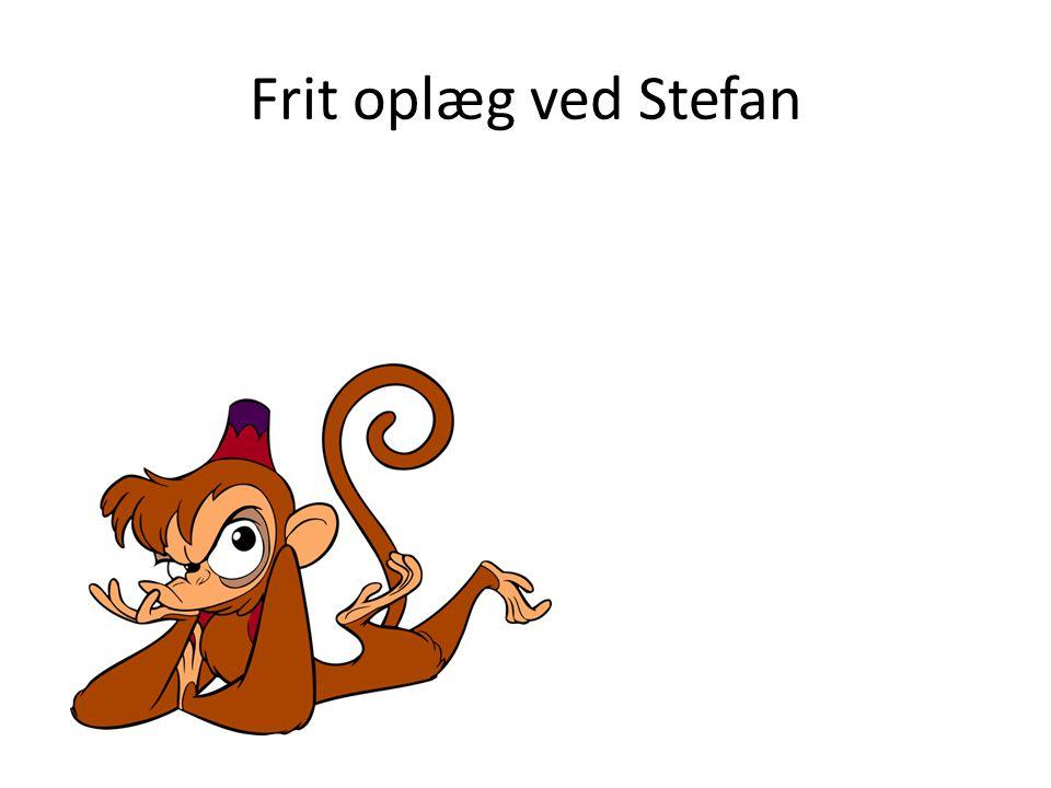 Frit oplæg ved Stefan