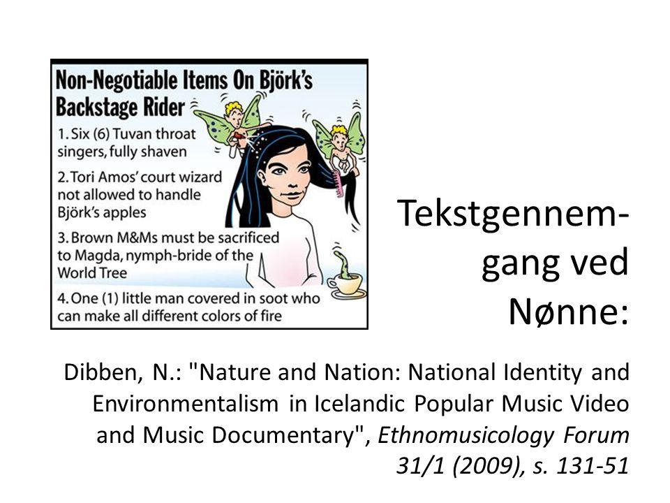 Tekstgennem-gang ved Nønne: