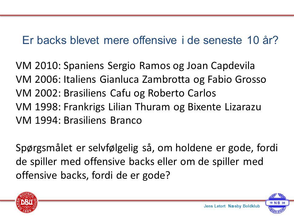 Er backs blevet mere offensive i de seneste 10 år