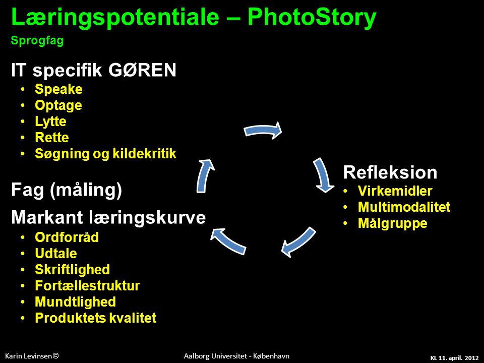 Læringspotentiale – PhotoStory