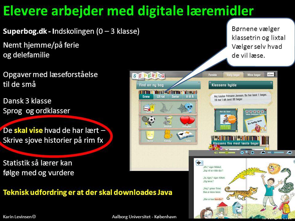 Elevere arbejder med digitale læremidler