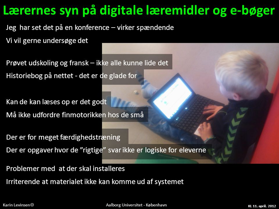 Lærernes syn på digitale læremidler og e-bøger