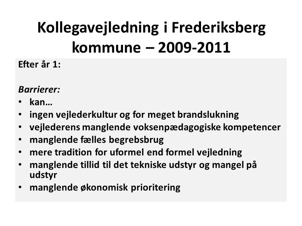 Kollegavejledning i Frederiksberg kommune – 2009-2011