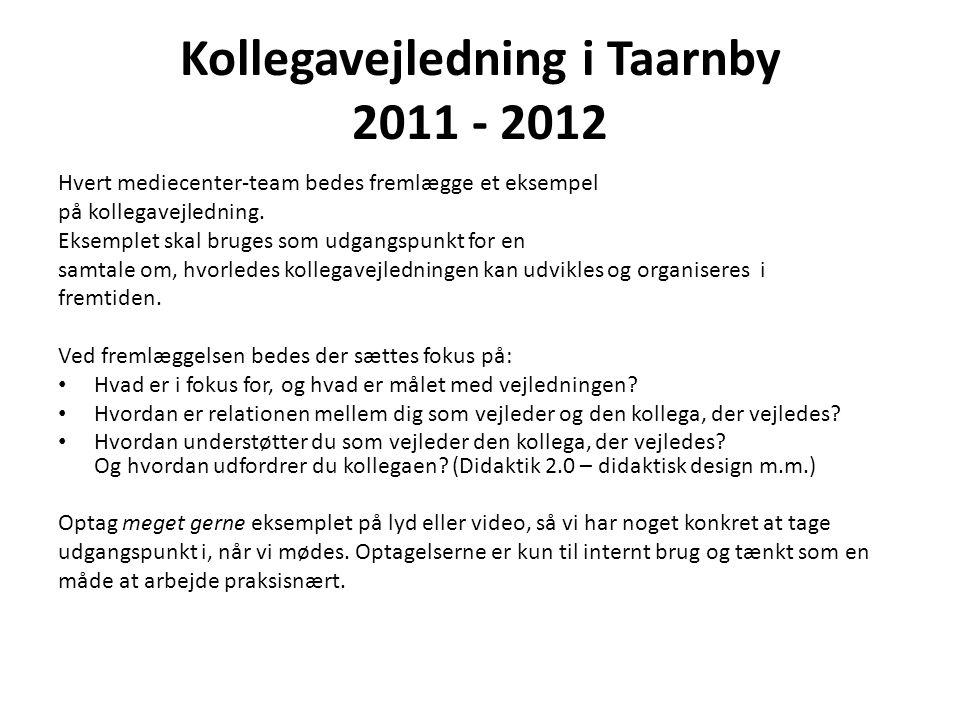 Kollegavejledning i Taarnby 2011 - 2012