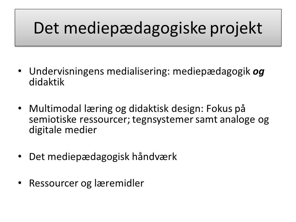 Det mediepædagogiske projekt