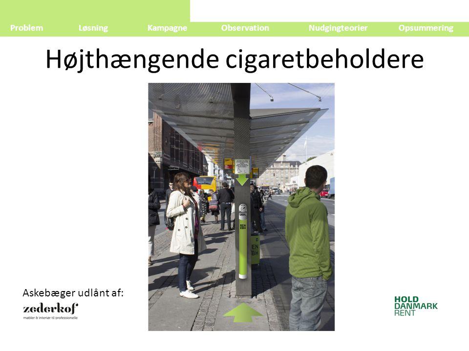 Højthængende cigaretbeholdere