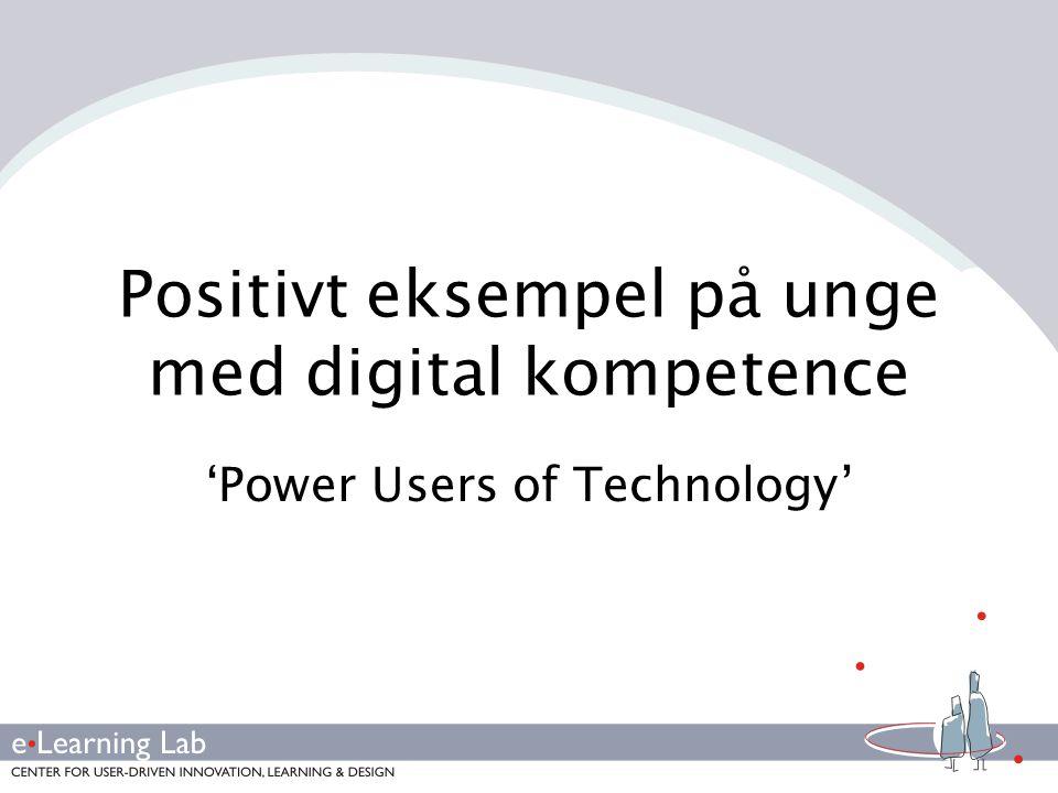 Positivt eksempel på unge med digital kompetence