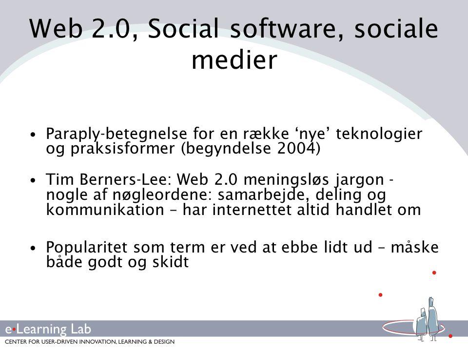 Web 2.0, Social software, sociale medier