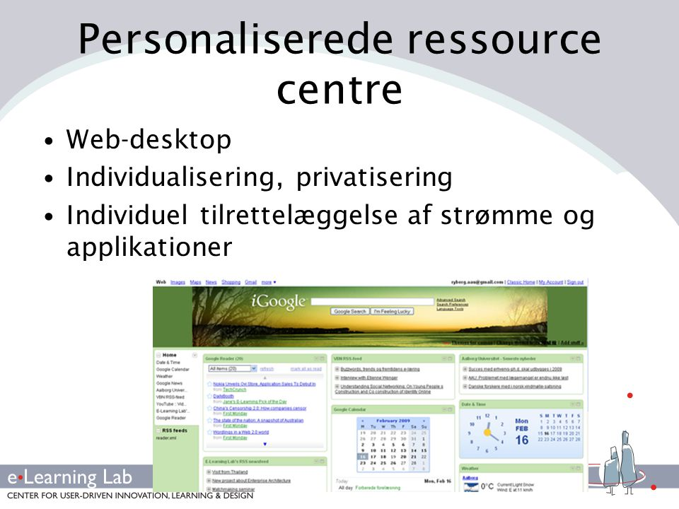 Personaliserede ressource centre