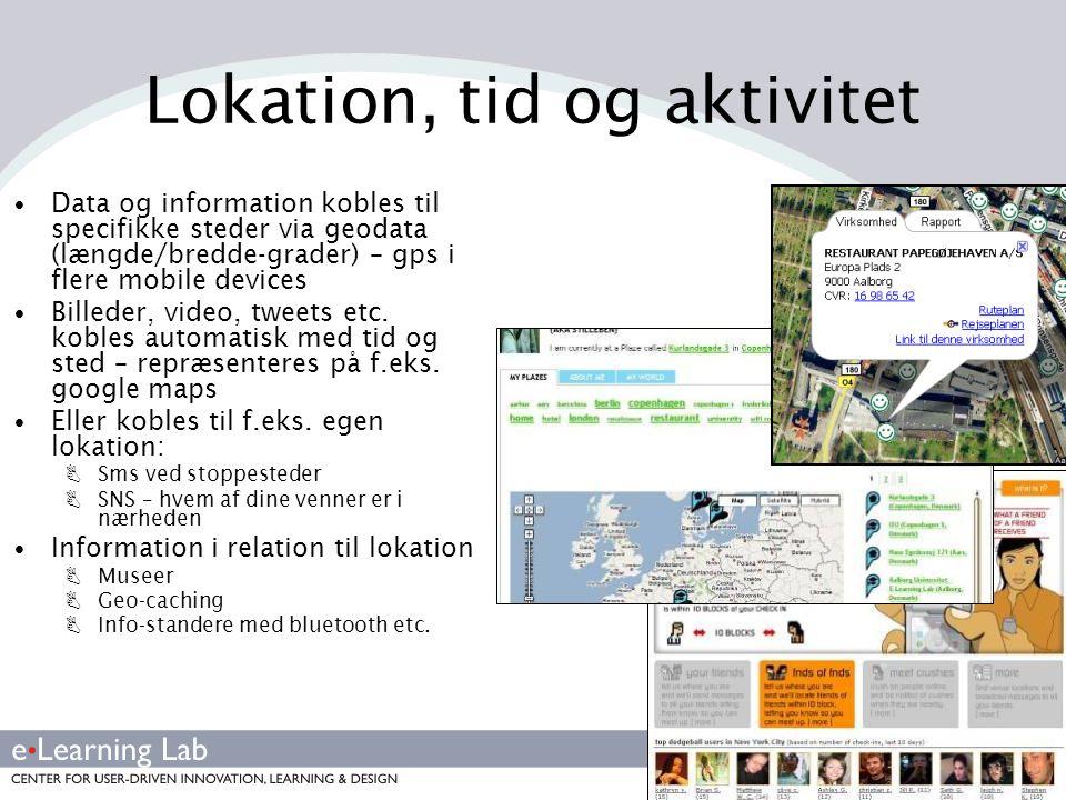 Lokation, tid og aktivitet