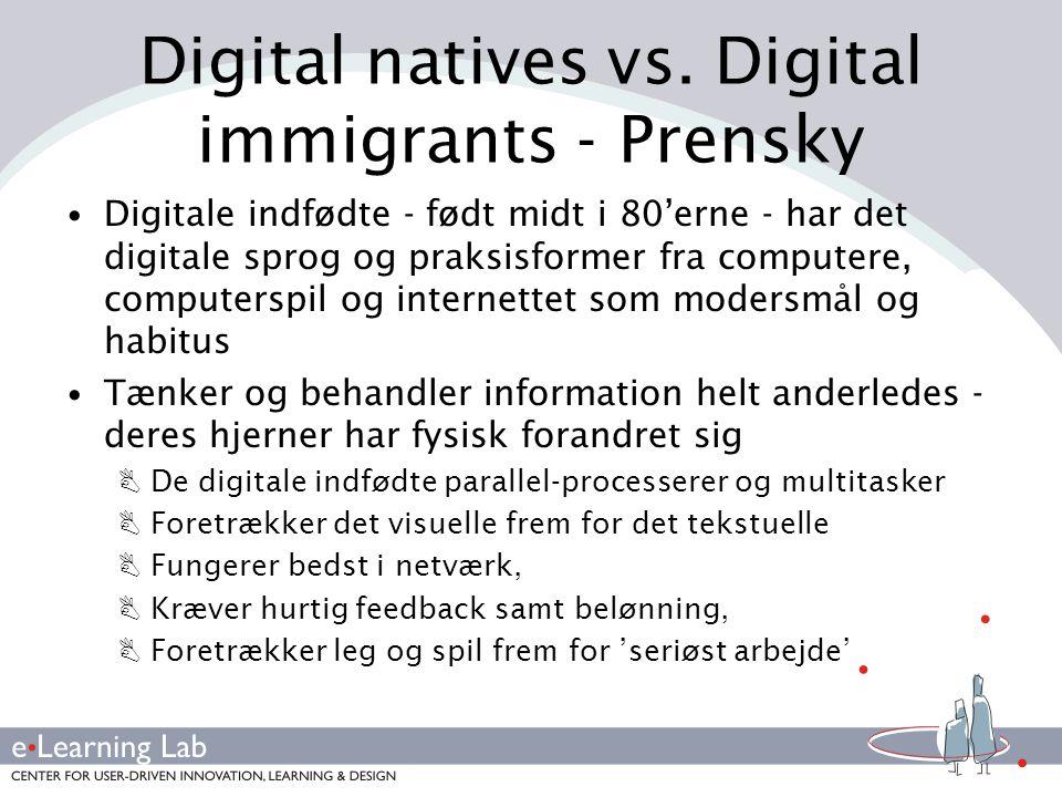 Digital natives vs. Digital immigrants - Prensky