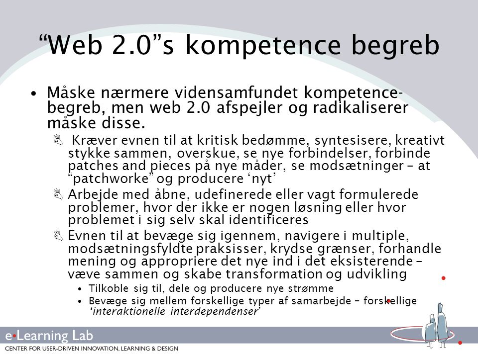Web 2.0 s kompetence begreb