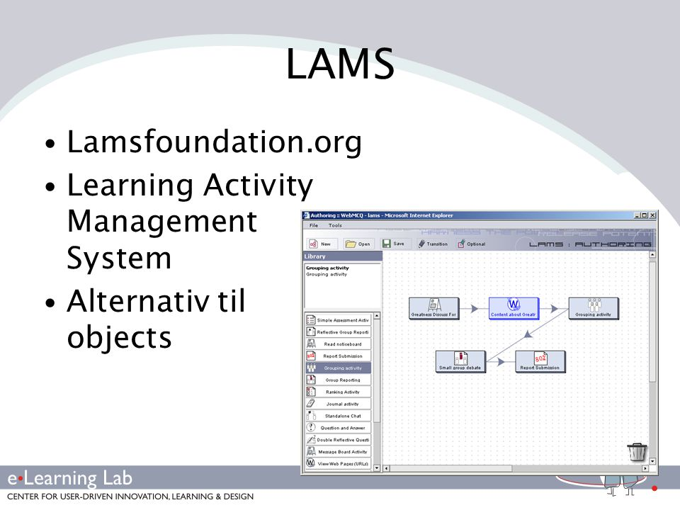 LAMS Lamsfoundation.org Learning Activity Management System