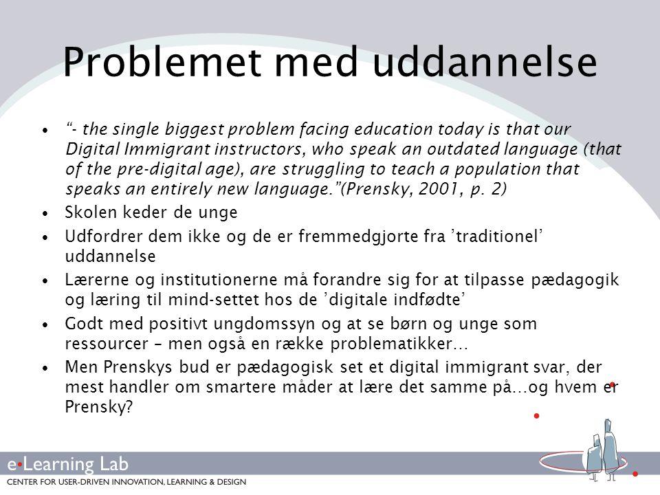 Problemet med uddannelse