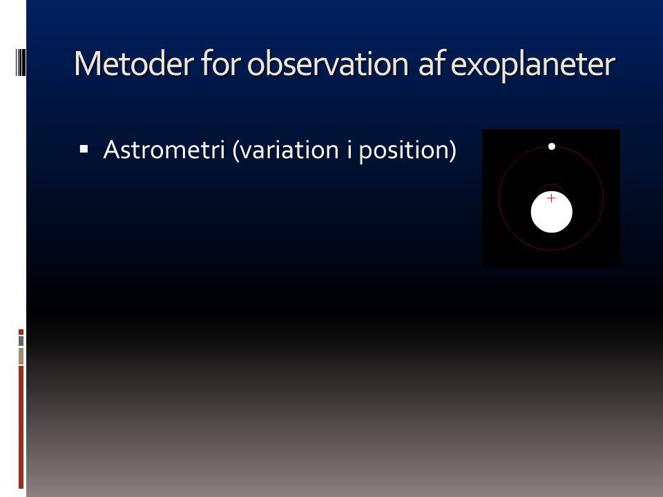 Metoder for observation af exoplaneter