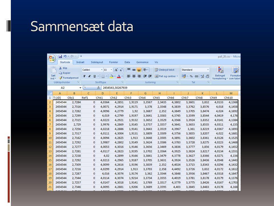 Sammensæt data