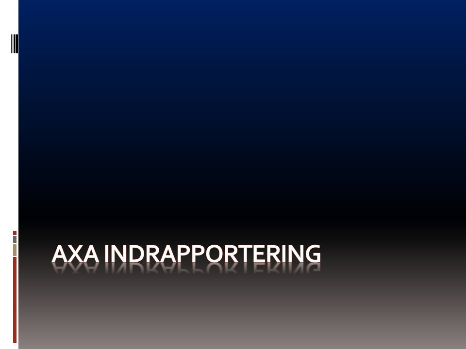 AXA INDRAPPORTERING