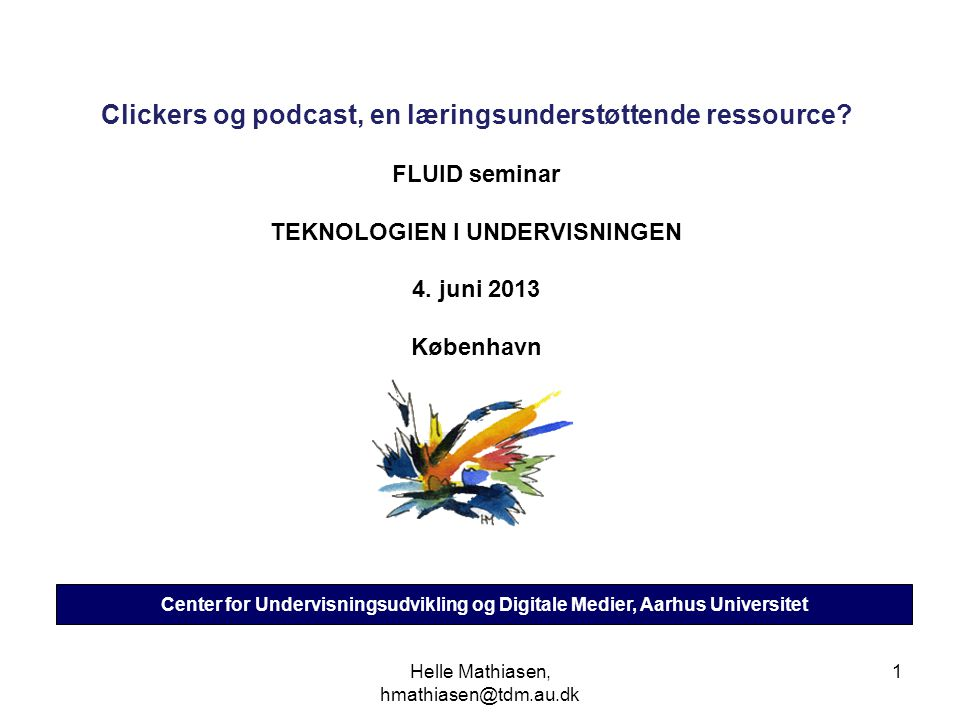 Clickers og podcast, en læringsunderstøttende ressource
