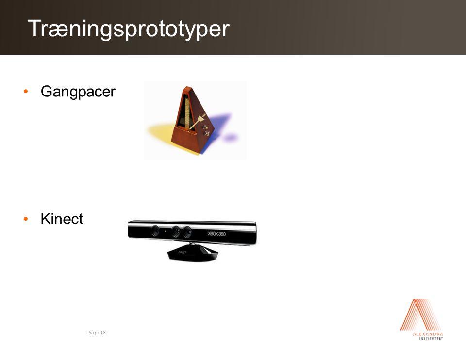 Træningsprototyper Gangpacer Kinect