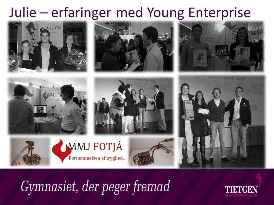 Julie – erfaringer med Young Enterprise