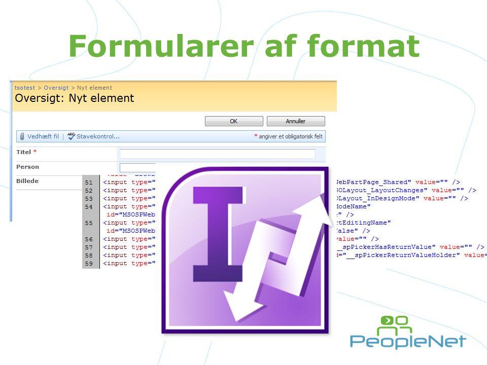 Formularer af format