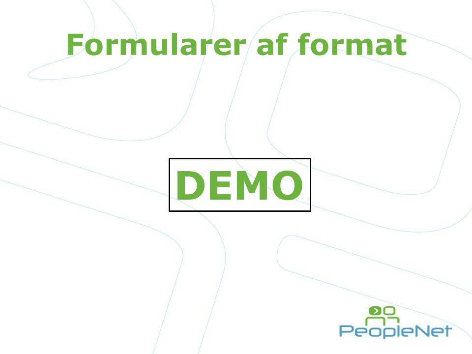 Formularer af format DEMO